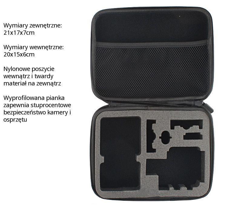 Profilowany FUTERAŁ, pokrowiec na akcesoria do kamer GoPro Hero 3, 3+ (GP116) - rozmiar M