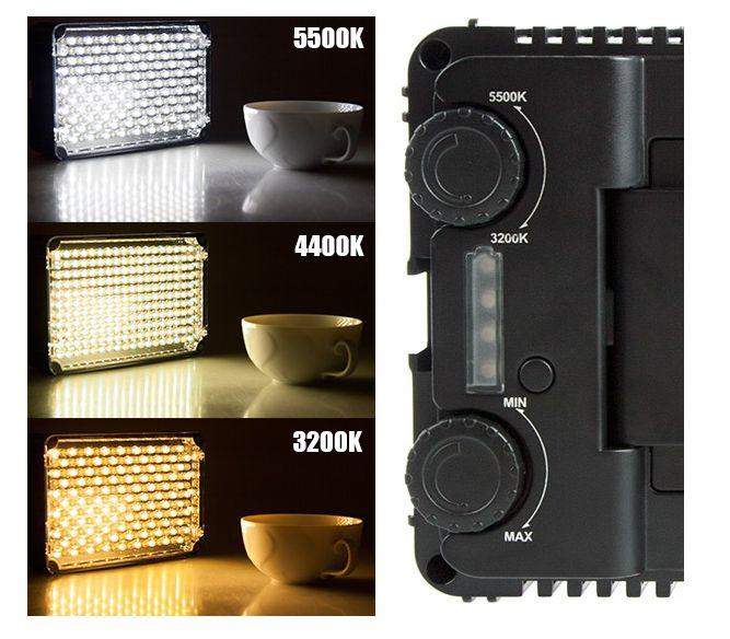 Lampa diodowa LED, model APUTURE AL-198C z regulacją barwy