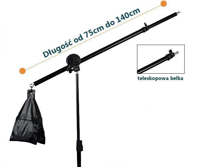 ŻURAW OŚWIETLENIOWY MINI BOOM + STATYW 230cm