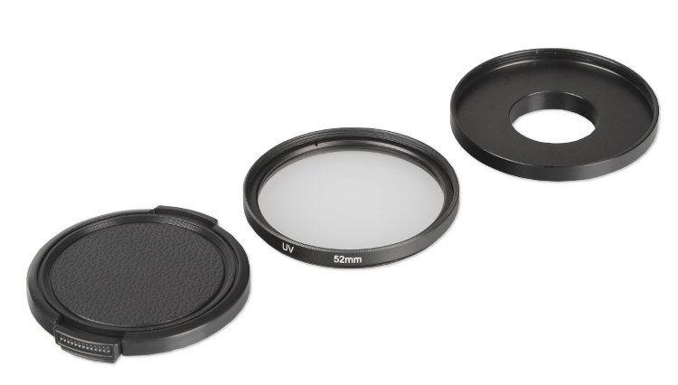 Zestaw ochronny (adapter, filtr, dekielek) 52mm do GoPro Hero 3, 3+ 4 (GP125)