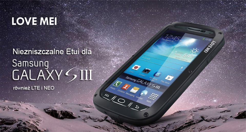 Pancerne etui do Samsung Galaxy SIII S3 LOVE MEI