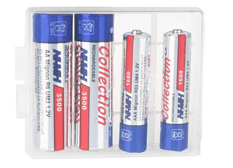 PUDEŁKO na baterie, akumulatorki AA, AAA BOX
