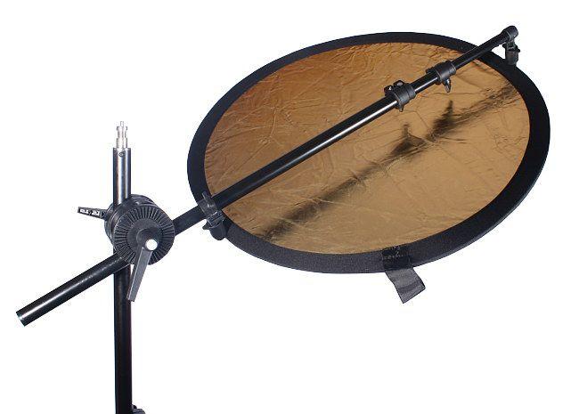 Uchwyt kołowy, obrotowy (round) na statyw oświetleniowy, model FH-02