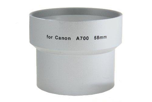 Tulejka do CANON A700 A710 A720 58mm (srebrna)