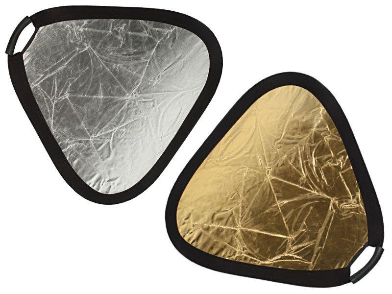 Blenda 2w1 trójkątna srebrno złota, rozmiar 30cm