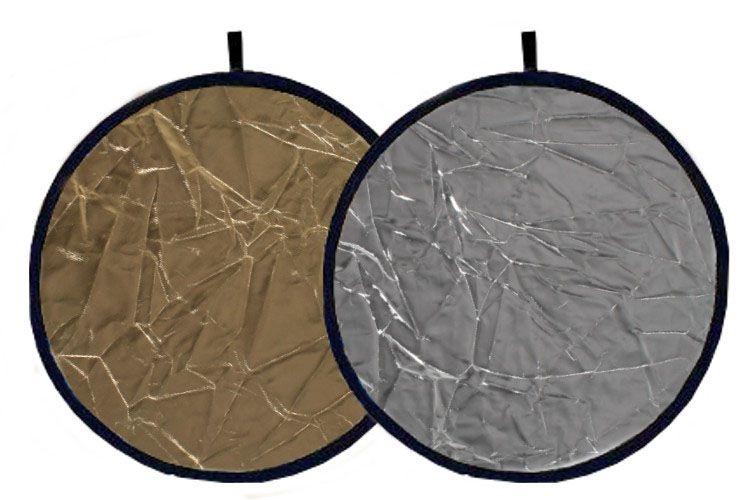 Blenda 2w1 kołowa złoto srebrna, rozmiar 60cm