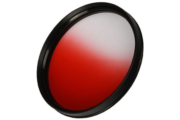 Filtr połówkowy czerwony 72mm