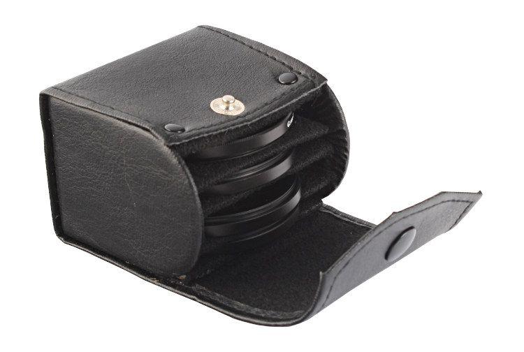 Etui S na 4 filtry fotograficzne 30mm, 37mm, 40,5mm, 43mm, 46mm, 49mm, 52mm, 55mm, 58mm, 62mm