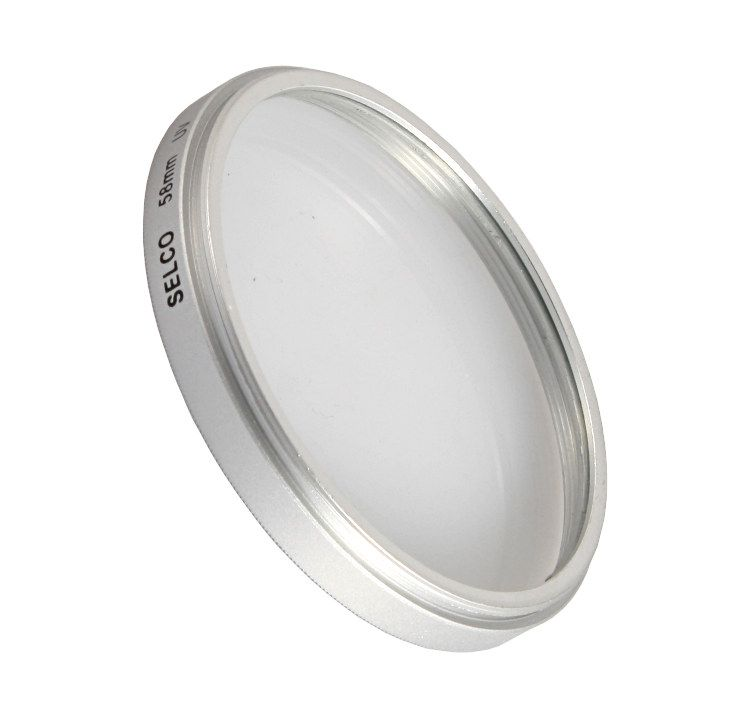Filtr ultrafioletowy UV 58mm SELCO srebrny