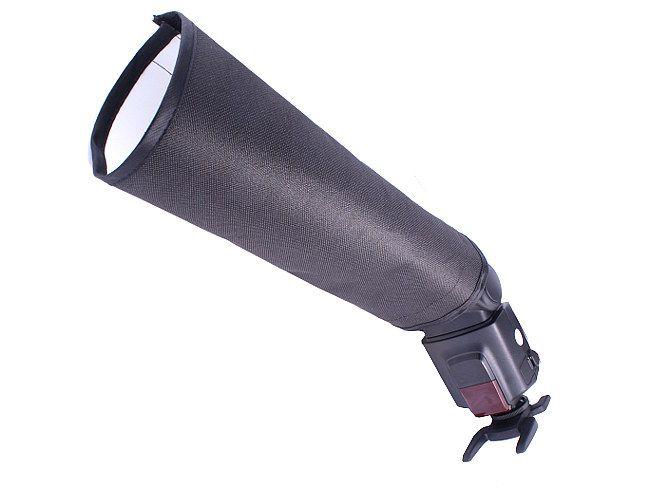 Odbłyśnik, dyfuzor, tuba do lamp błyskowych