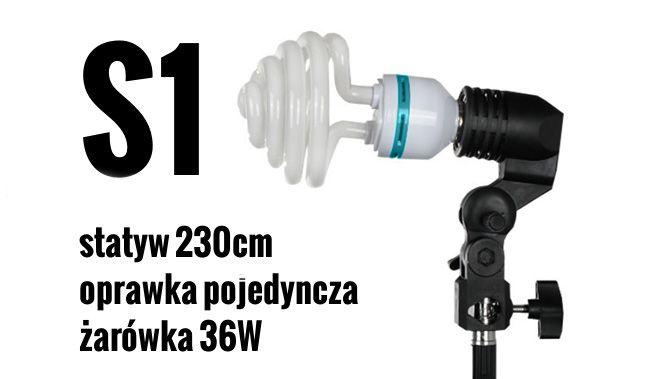 S1 Zestaw OŚWIETLENIOWY 36W=210W Statyw 230cm