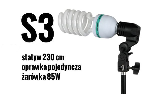 S3 Zestaw OŚWIETLENIOWY 85W=400W Statyw 230cm