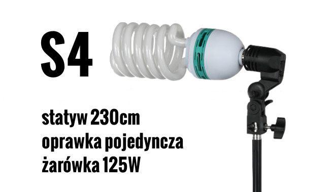 S4 Zestaw OŚWIETLENIOWY 125W=600W Statyw 230cm