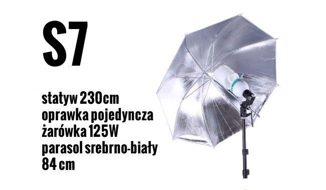 S7 Zestaw OŚWIETLENIOWY 125W=600W Statyw 230cm