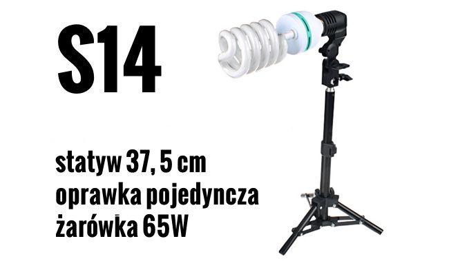 S14 Zestaw OŚWIETLENIOWY 65W=325W Statyw 37,5 cm