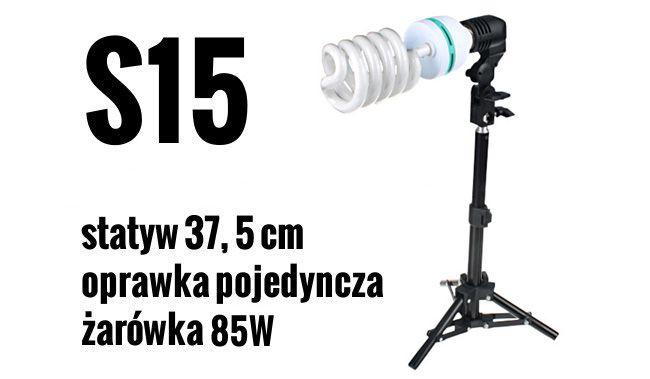 S15 Zestaw OŚWIETLENIOWY 85W=400W Statyw 37,5 cm