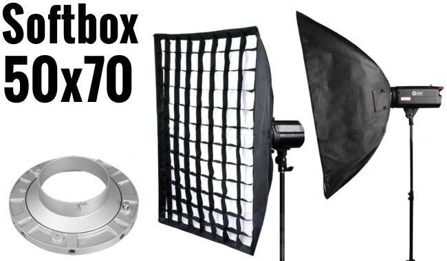 Softbox 50x70cm z Gridem, mocowanie Bowens