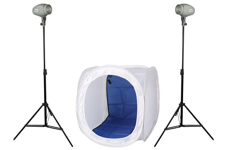 B8 zestaw oświetlenia błyskowego (2x DF-150 + namiot 80cm + 2x statyw)