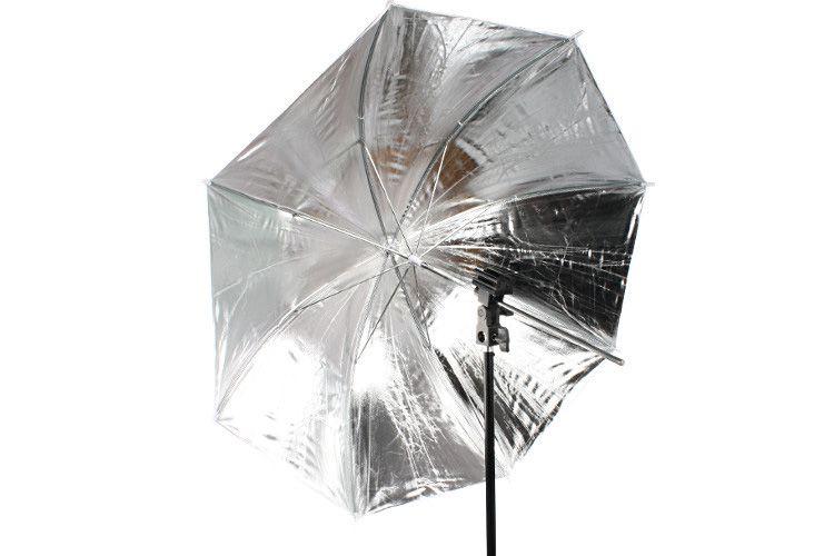 R2 zestaw reporterski (statyw, uchwyt, parasolka srebrno-biała)