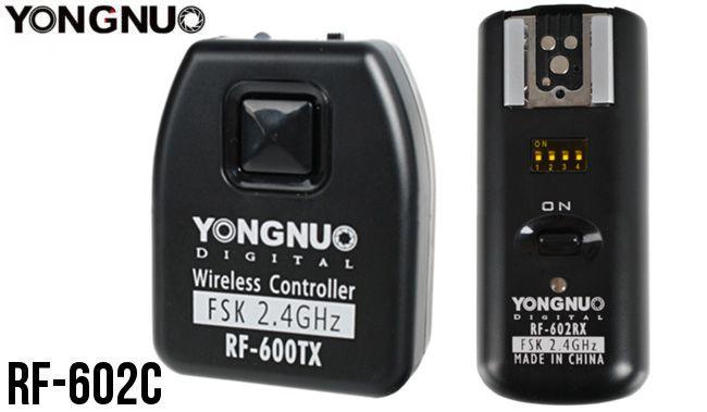 Wyzwalacz lamp Yongnuo, model RF-602C do Canon