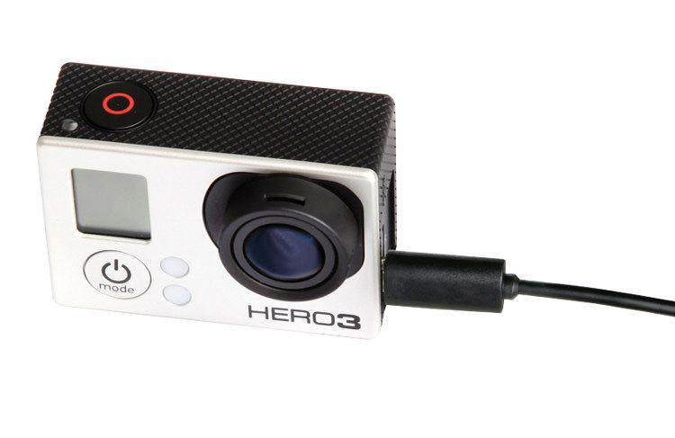 Mikrofon pojemnościowy STEREO z klipsem BY-GM10, do kamer GoPro Hero 3, 3+, 4
