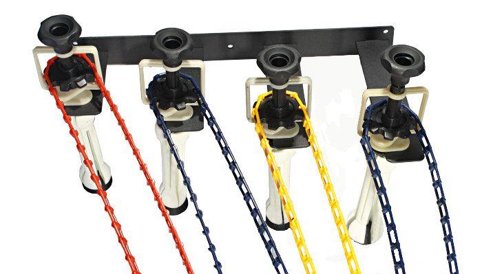 Zestaw do teł łańcuszkowy + 4x tło fotograficzne 1,6x5m