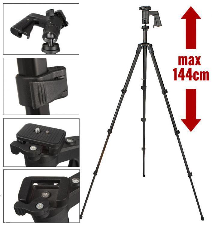 STATYW fotograficzny 144cm, model 3016 + etui