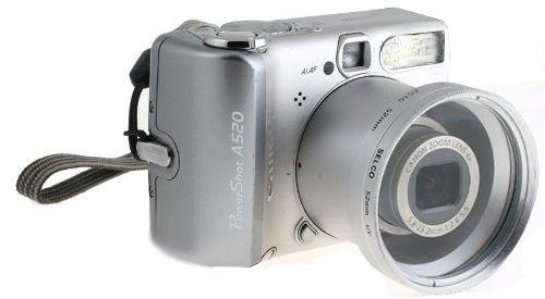 CANON S2 S3 S5 is 52mm Zestaw ochronny srebrny