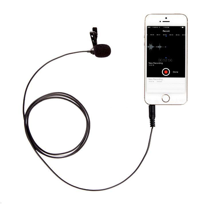 Mikrofon pojemnościowy STEREO z klipsem BY-LM10, do kamer smartfona i iphone'a
