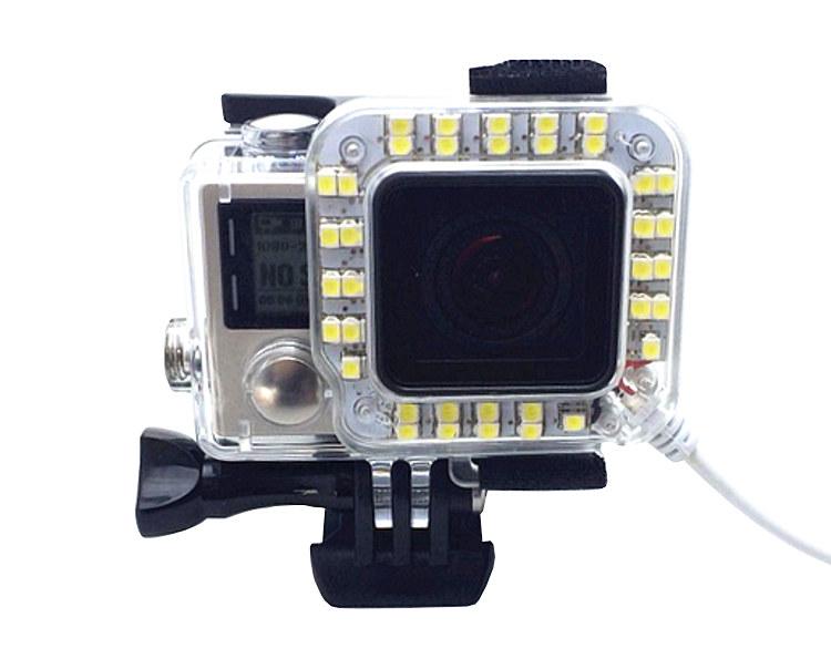 Lampka LED na USB GoPro 3+, 4 (GP900)