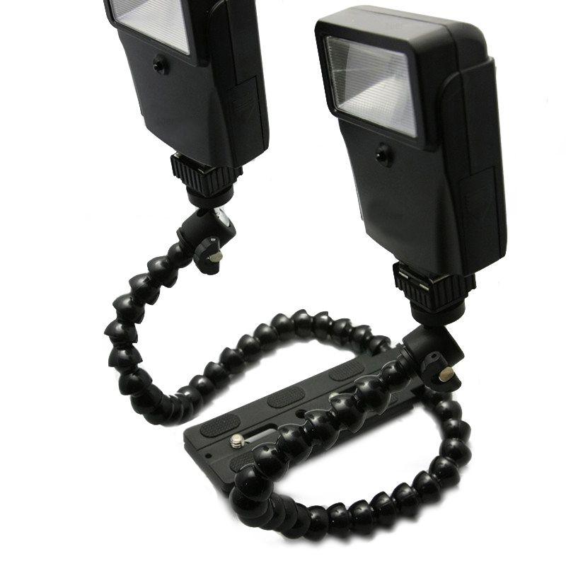 Uchwyt przegubowy z mocowaniem na dwie lampy DMM-901