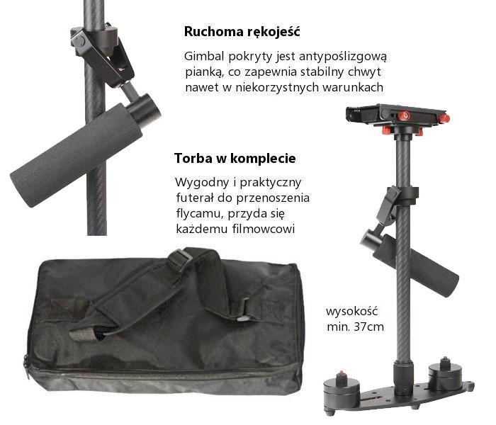 Stabilizator obrazu Glidecam FLYCAM, model VS-60 (do 3kg)