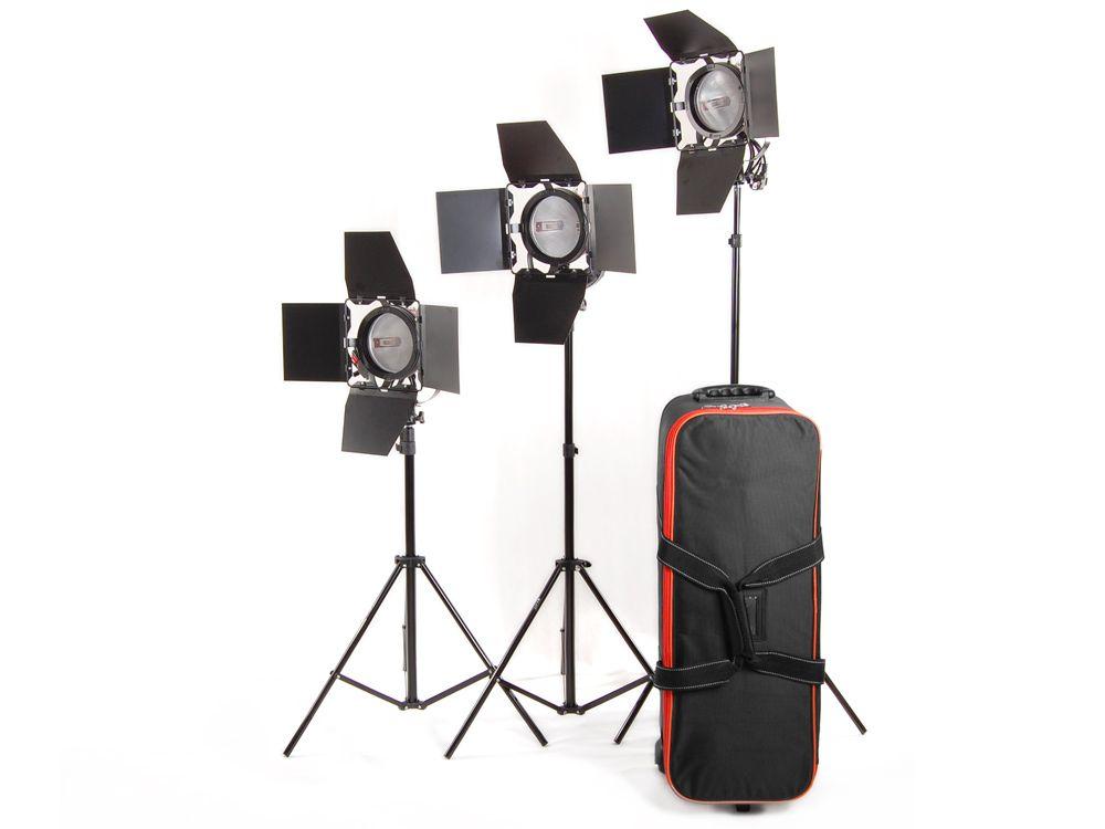 Zestaw oświetleniowy 3x lampa 800W Spot Light, Red Head, 3x statyw + walizka + SOFTBOX 70x90, model PL-04