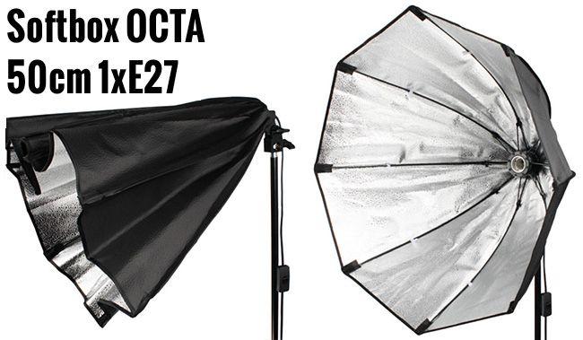 Softbox ośmiokątny OCTA 50cm na 1 żarówkę E27