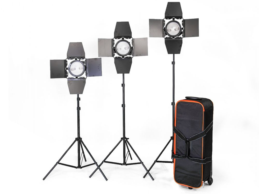 Halogenowy zestaw oświetleniowy 3x800W RedHead ze ściemniaczem