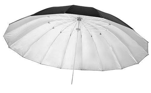 Parasolka srebrno-czarna 150cm, włókno szklane
