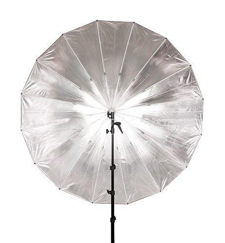 Parasolka srebrno-czarna 185cm, włókno szklane