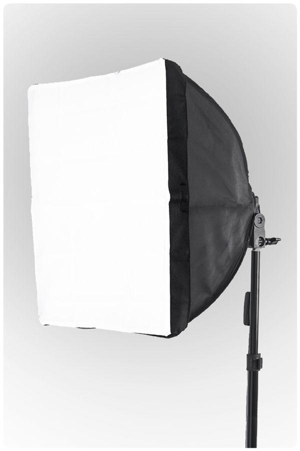 Oprawa SOFTBOX światła ciągłego typu Monohead, żarówka 85W, statyw 230cm