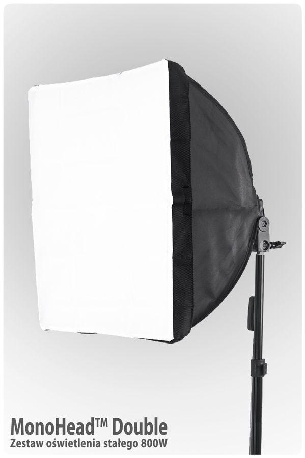 Lampa SOFTBOX MonoHead™ 40x40, żarówka 85W, statyw 230cm