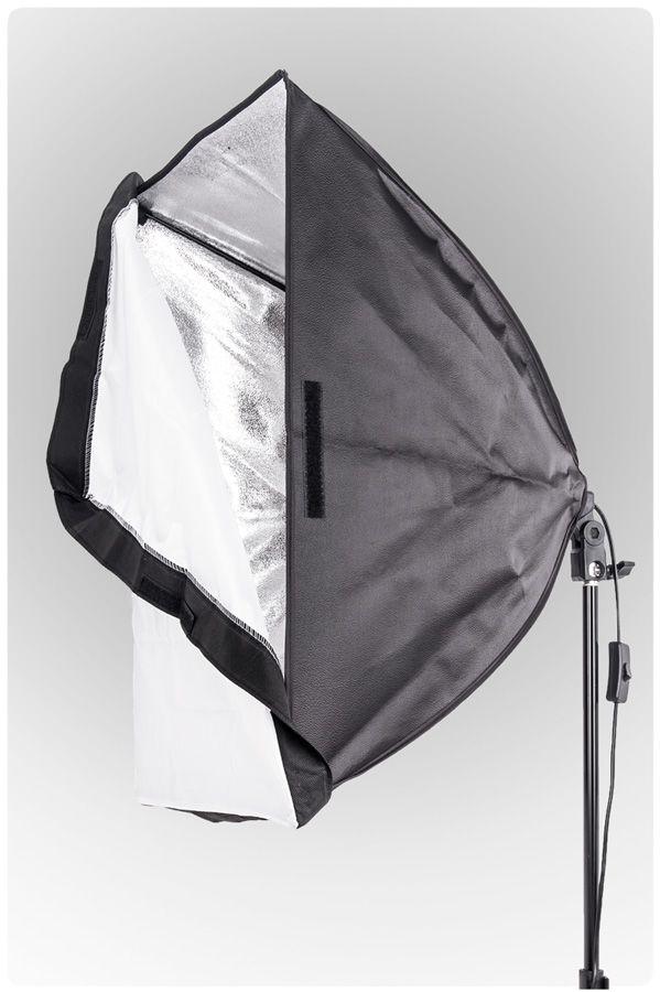 Lampa SOFTBOX MonoHead™ 60x60, żarówka 85W, statyw 230cm