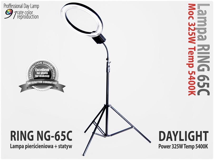 Lampa pierścieniowa RING NG-65C 65W + Statyw 805
