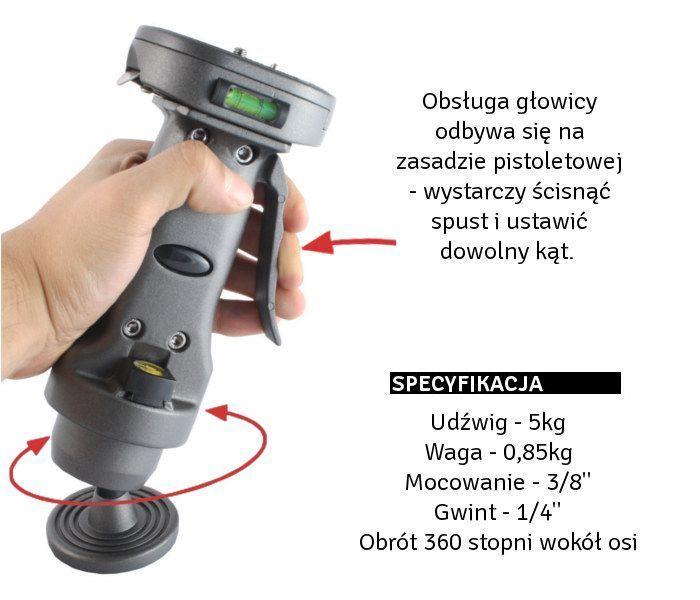 STATYW fotograficzny 160cm, model Voyager 3012 z głowicą WT-011H