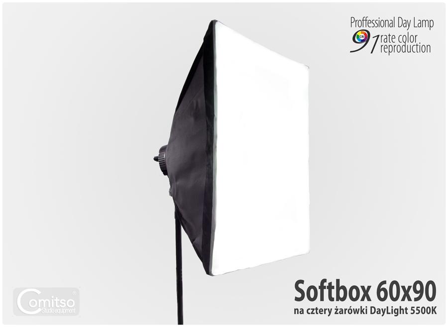 Oprawa softbox QuadHead™ na cztery żarówki
