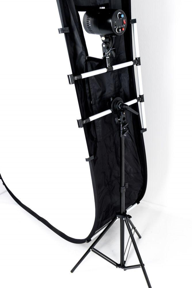 Bezcieniowe białe tło do postaci i portretów 150x200cm, Hastell XXL Whitewall™ Standsoftbox 3D