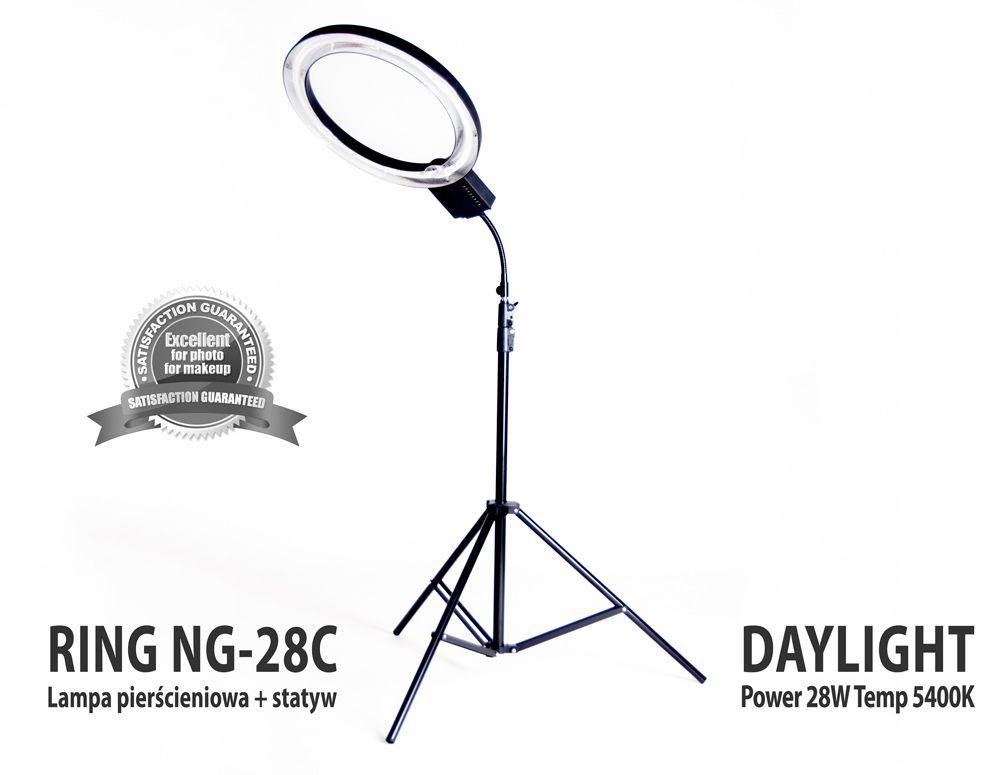 Lampa pierścieniowa RING NG-28C 28W + Statyw 803