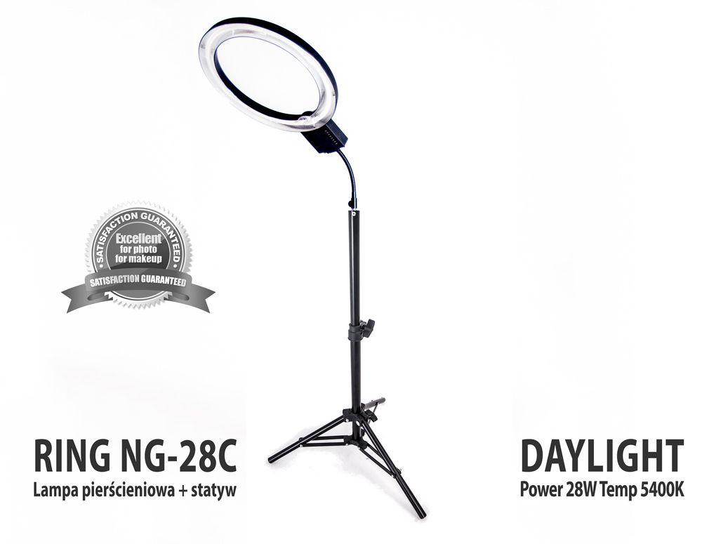 Lampa pierścieniowa RING NG-28C 28W + Statyw 801