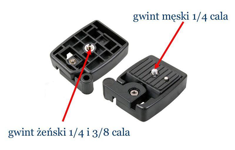 Głowica do statywu + szybkozłączka, model QQ1