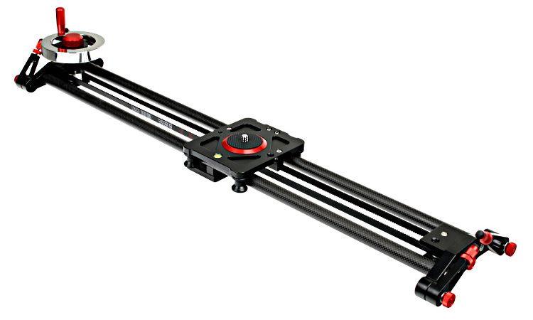 Slider karbonowy kamerowy VIDEO z kołowrotkiem