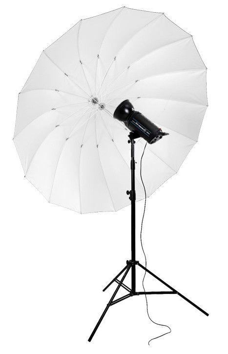 Parasolka biało-czarna 180cm, włókno szklane