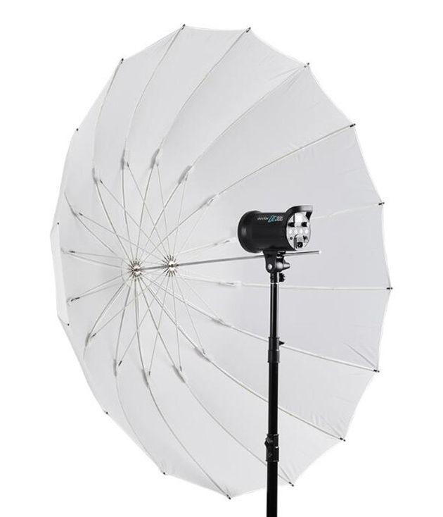 Parasolka softlight biała 185cm, włókno szklane